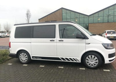 CMC Nederland - Slaaphefdak Multivan en Volkswagen Transporter 5 / 6 - Wit zijkant