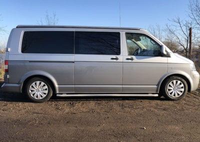 CMC Nederland - Slaaphefdak Multivan en Volkswagen Transporter 5 / 6 - Grijs zijkant