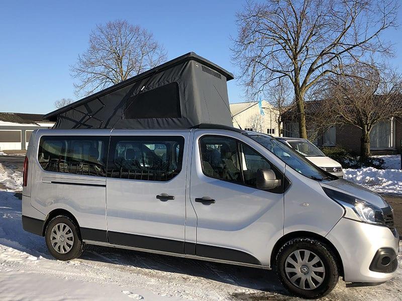 CMC Nederland - Slaaphefdak Renault Trafic - Grijs zijkant